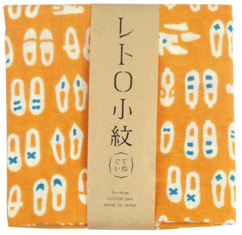 Retro Komon - Oshare na Kutsushita (Stylish socks) (The dyed Tenugui)
