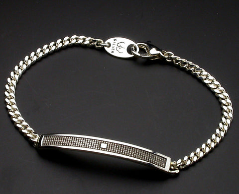 Saito - Heart Sutra Extra Slim Silver Bracelet (Silver 950) - Free Shipping