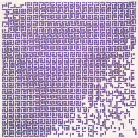 Konomi - Square Furoshiki Purple  97X97cm   (Japanese Wrapping Cloth)