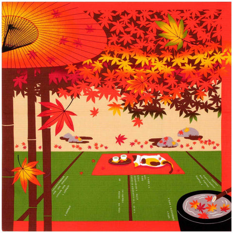 Mikeneko Mike - November Furoshiki (Japanese Wrapping Cloth)