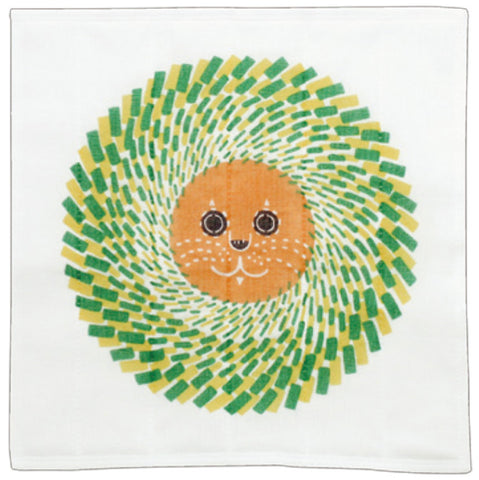 Kata Kata - Lion  Green - Nanae Fukin (Kitchen towels)   30 x 30 cm