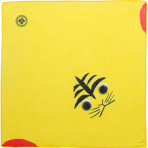 Cochae  soft towel 100% cotton - Tora (Tiger) Yellow   35 x 35 cm