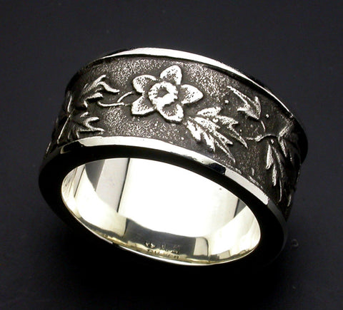 Saito - Aoi Flower Silver Ring (Silver 925) - Free Shipping