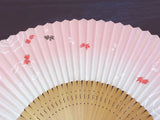 Traditional handcrafted Kyoto Ladies' Sensu - #224 Goldfish - Pink