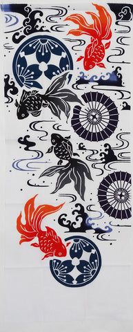 Iki - Goldfish (The dyed Tenugui)