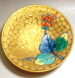Fujii Kinsai Arita Japan - Somenishiki Golden Kudzu Sake Cup (Hai) - Free shipping