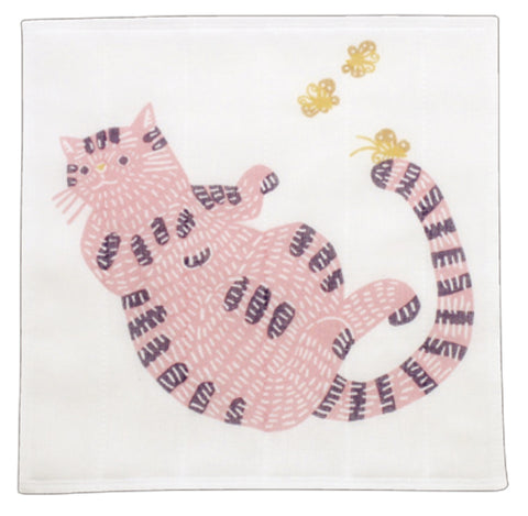 Kata Kata - Neko (Cat)  Pink - Nanae Fukin (Kitchen towels)   30 x 30 cm