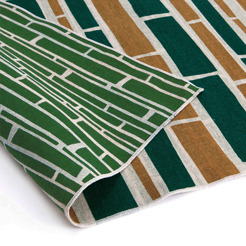 AtarashikiInishie -  Double-Sided Dyeing - Take Green - Furoshiki (Japanese Wrapping Cloth)