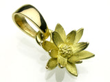Saito - Lotus Flower Gold Pendant top (18Kt Gold) - Free Shipping