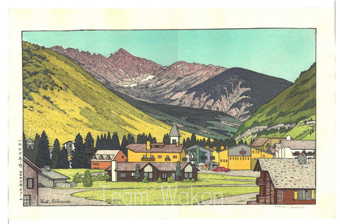 Yoshida Toshi - #016602  Vail,Colorado (Very Limited) - Free Shipping  Only 1 left!!
