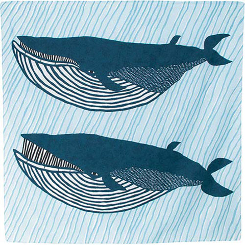 Kata Kata - Water repellent finish -  Fin whale  - Furoshiki   100 x 100 cm
