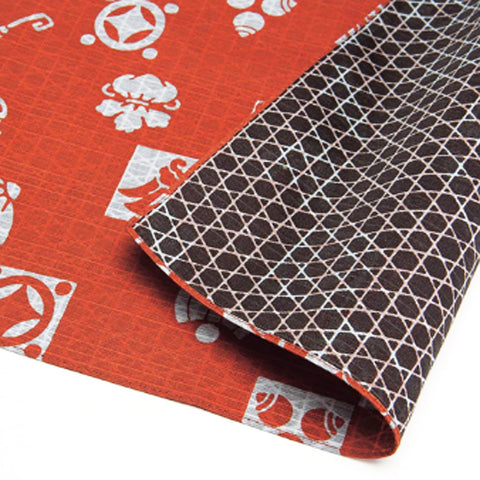 Fukumusubi -  Double-Sided Dyeing 105 x 105 cm - Takarazukushi  Shu/Dark Brown - Furoshiki (Japanese Wrapping Cloth)