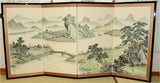 Japanese Traditional Hand Paint Byobu (Silk Folding Screen) - T 27 - Free Shipping