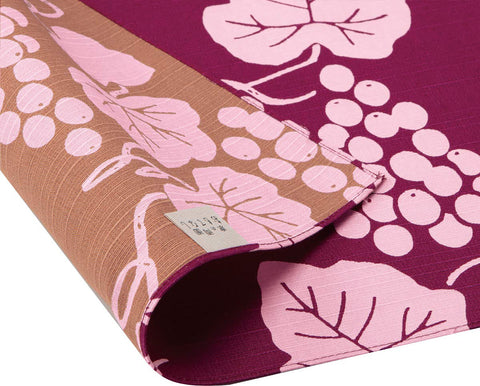 Omotenashi -  Double-Sided Dyeing Grape - Wine - Furoshiki 50 x 50 cm (Japanese Wrapping Cloth)