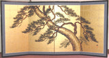 Tominaga Jyuho - Japanese Traditional Hand Paint Byobu (Gold Leaf Folding Screen) - X144 - Free Shipping