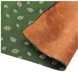 Fukumusubi -  Double-Sided Dyeing - Turtle  Green/Shu - Furoshiki (Japanese Wrapping Cloth)