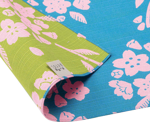 Omotenashi -  Double-Sided Dyeing Sakura - Light Blue - Furoshiki 50 x 50 cm (Japanese Wrapping Cloth)
