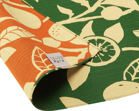 Omotenashi -  Double-Sided Dyeing Daidai - Green - Furoshiki 50 x 50 cm (Japanese Wrapping Cloth)