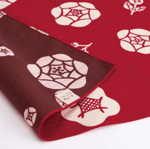 Omotenashi -  Double-Sided Dyeing Bara (Rose) Red/Brown - Furoshiki (Japanese Wrapping Cloth)