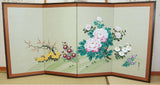 Japanese Traditional Hand Paint Byobu (Silk Folding Screen) - T 21 - Free Shipping