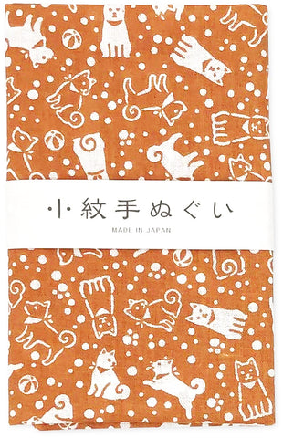 Komongara Tenugui - Inu (Dog) (The dyed Tenugui)