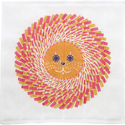 Kata Kata - Lion  Orange - Nanae Fukin (Kitchen towels)   30 x 30 cm