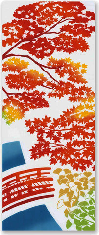 Kenema  - Momijigari (Autumn leaves) (The dyed Tenugui)- Japanese traditional Tenugui