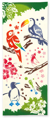 Kenema  -  Tokonatsu no Toritachi (Tropical Bird)   (The dyed Tenugui)