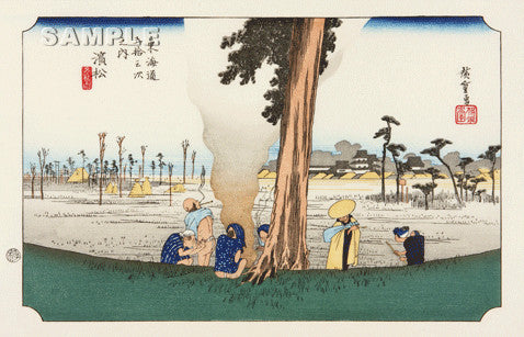 Utagawa Hiroshige - No.30 - 29th Station Hamamatsu - The 53 Stations of the Tōkaidō (Hoeido-Edition) - Free Shipping