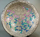 Fujii Kinsai Arita Japan - Somenishiki Platinum Hototogisu Ornamental plate 60.50 cm - Free Shipping