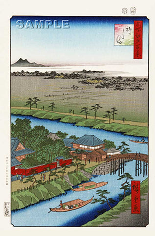 Utagawa Hiroshige - No.032 The Yanagishima - One hundred Famous View of Edo - Free Shipping