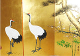 Japanese Traditional Hand Paint Byobu (Gold Leaf Folding Screen) - T22 - Free Shipping