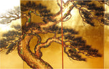 Japanese Traditional Hand Paint Byobu (Gold Leaf Folding Screen) - T 25 - Free Shipping