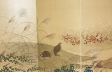 Japanese Traditional Hand Paint Byobu (Silk Folding Screen) - T 2 - Free Shipping