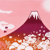 Wafuka - Fuji Mountain Pink (The dyed Tenugui)