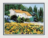 Saikosha - #012-14 Sunflower of Provence (Framed Cloisonné ware) - Free Shipping