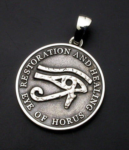 Saito - Eye of Horus Silver 950 Pendant Top - Free Shipping