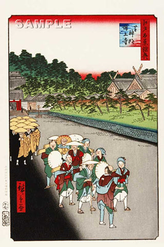 Utagawa Hiroshige - No.079 Shiba Shinmei Shrine and Zōjōji Temple - One hundred Famous View of Edo - Free shipping