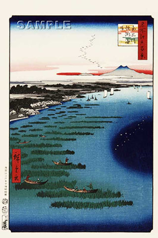 Utagawa Hiroshige - No.109 Minami Shinagawa and Samezu Coast  - One hundred Famous View of Edo - Free shipping
