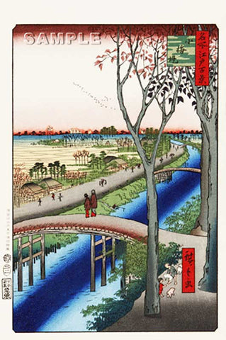 Utagawa Hiroshige - No.104 Koume Embankment - One hundred Famous View of Edo - Free shipping