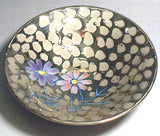 Fujii Kinsai Arita Japan - Somenishiki Platinum Cosmos Sake Cup (Hai) - Free shipping