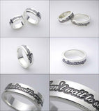 "Saito - Posy Silver 950 Ring - Pair ( For You & Her ) ""I can't wait to see you.""  - Free shipping"