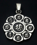 Saito - Mandala on Lotus flower Silver 950 Pendant Top (Small) - Free Shipping