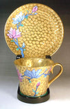 Fujii Kinsai  Arita Japan - Somenishiki Golden Mokuren Cup & Saucer - Free Shipping