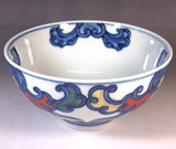 Fujii Kinsai Arita Japan - Somenishiki Namikarakusa Rice Bowl - Free shipping