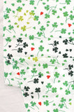 Wafuka - Shiawase no clover (Happiness of clover)   (The dyed Tenugui)