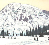 Yoshida Toshi - Mt. Rainier in Winter