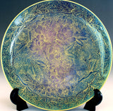 Fujii Kinsai Arita Japan - Kinran Yurisai Kinran Sakura Ornamental plate 19.00 cm (Superlative Collection) - Free Shipping