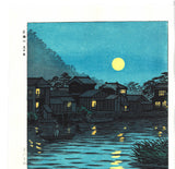 Kasamatsu Shiro - SK29 Katase Gawa Tsuki no De (The moon at the Katase river) - Free Shipping