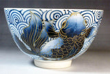 Fujii Kinsai Arita Japan - Kosometsuke Goldfish Tea cup for Tea ceremony - Free Shipping